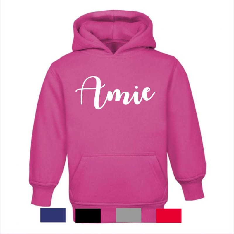 Personalised embroidery name hoodie