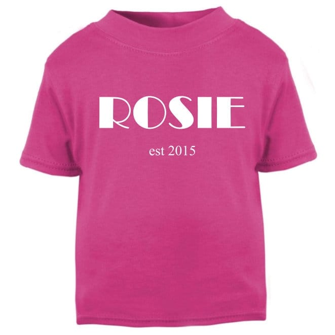 Personalised name and date T-shirt
