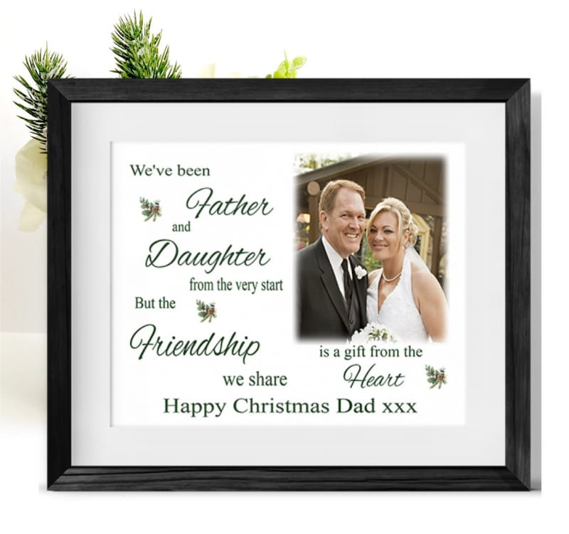 A Gift From The Heart Christmas Frame Dad