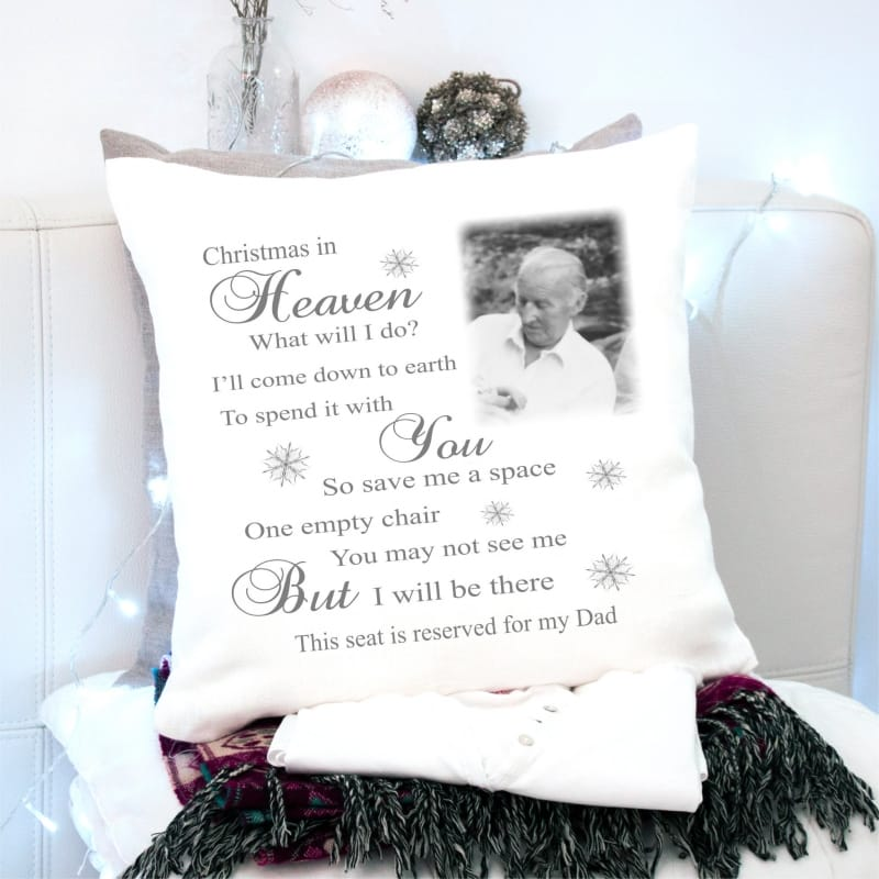 Christmas in Heaven personalised cushion