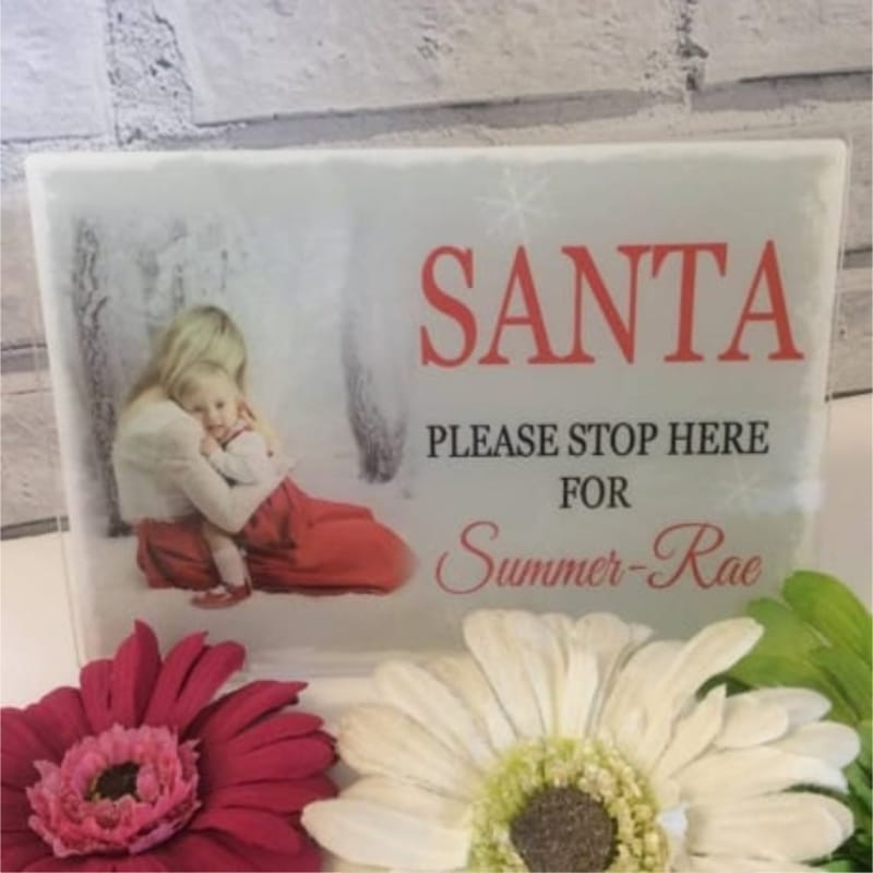 Christmas sign - Santa Stop here