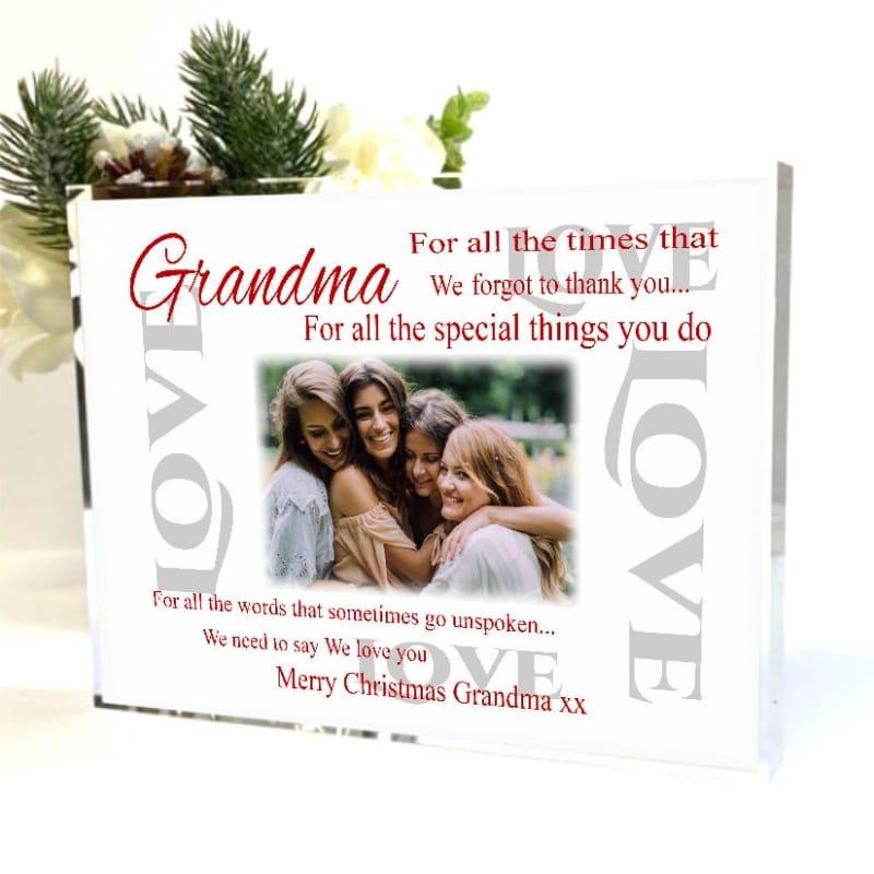 Christmas Thank you Block - Grandma