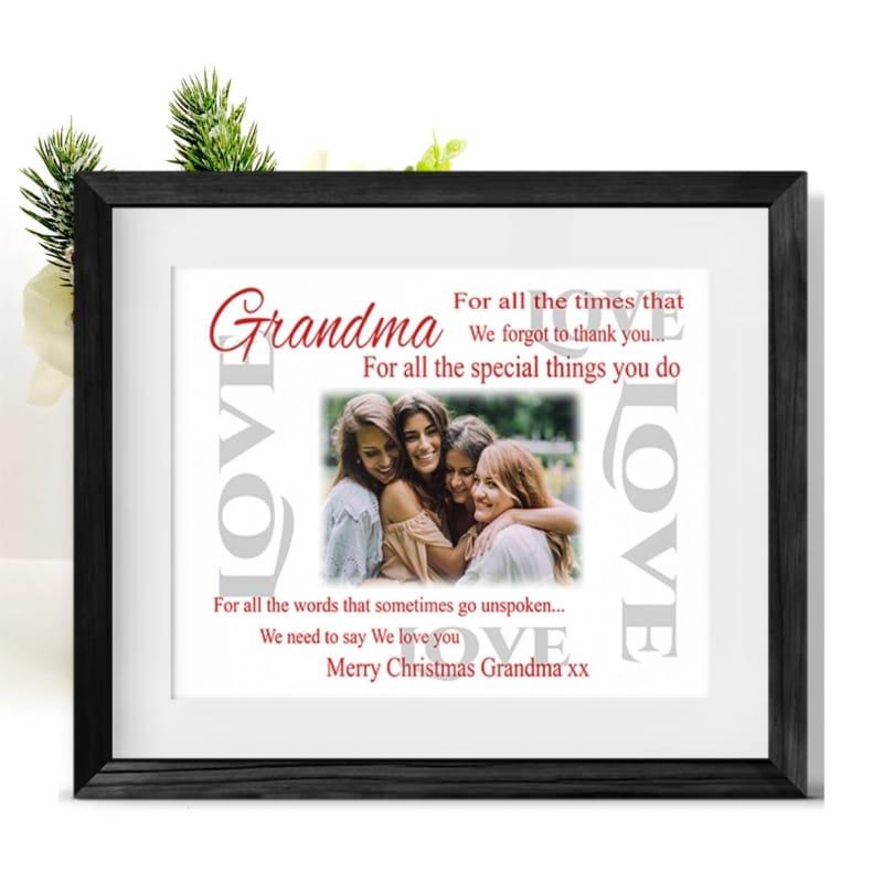 Christmas Thank you Frame - Grandma