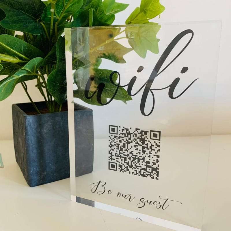 3D Effect Personalised Clear QR Code Photo Block