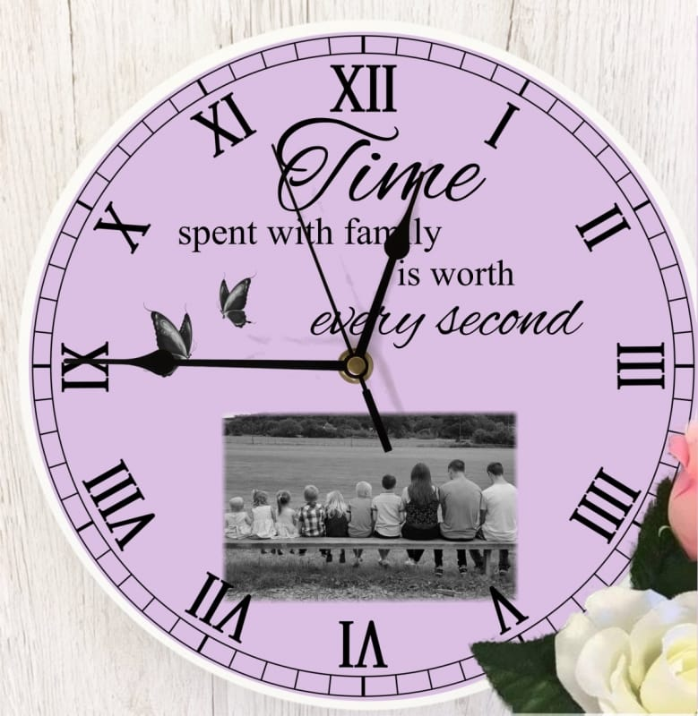 Personalised clock - Time spent with family