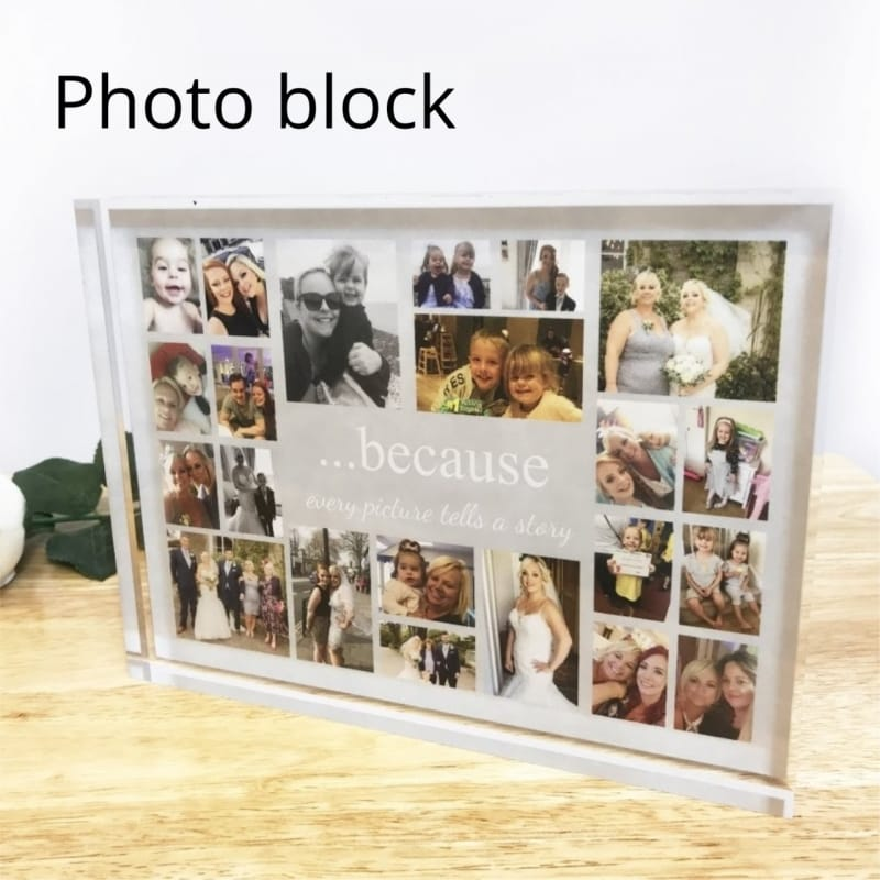 Because Every Picture Tells A Story Photo Block Collage