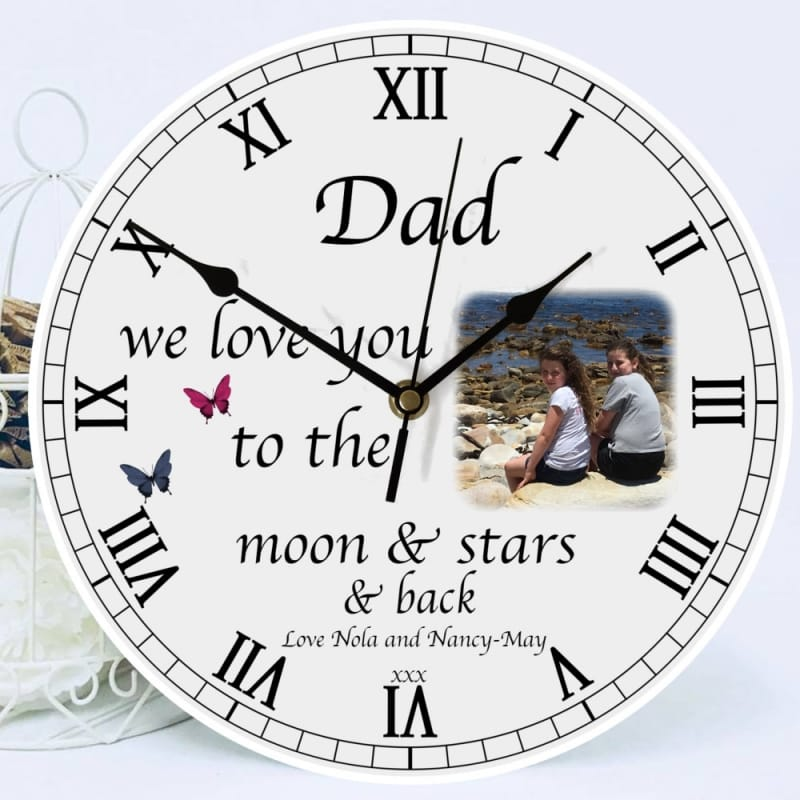 Personalised clock - Love you to...