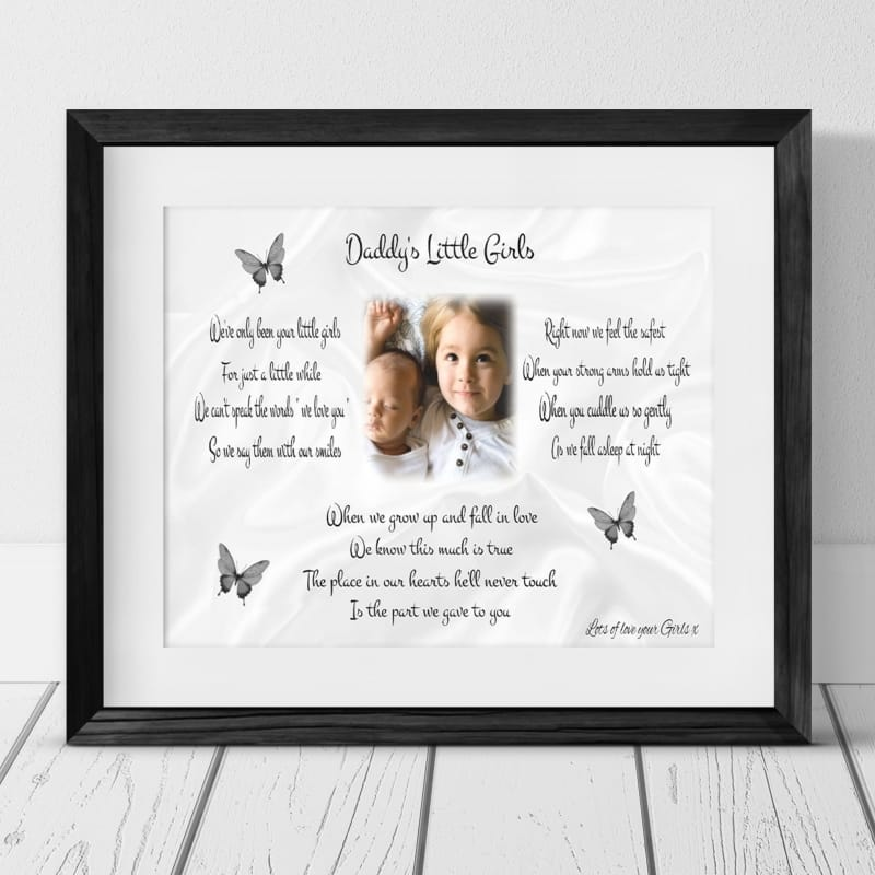 Daddy's little girls : Frame, Block or Plaque