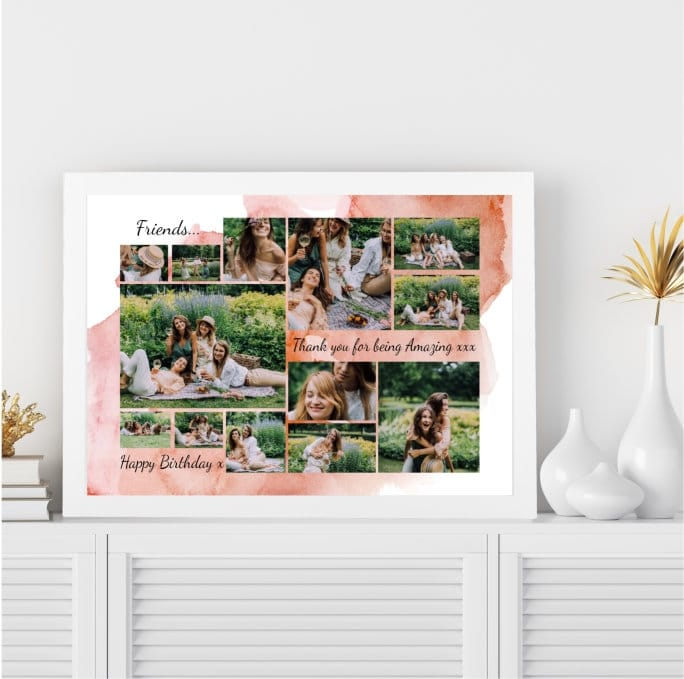 Personalised Deluxe Wall Frame Friend Birthday Keepsake