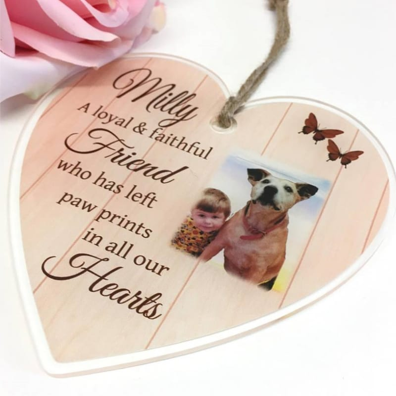 Personalised Acrylic Heart - Pet remembrance
