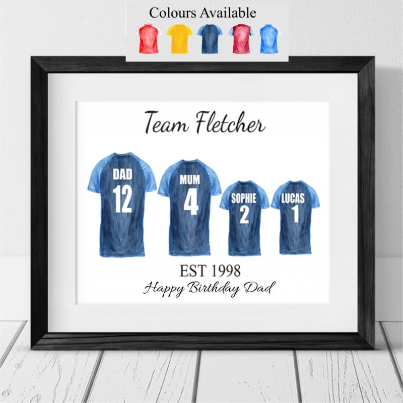 Football Shirt - 4 Team Family Photo Frame