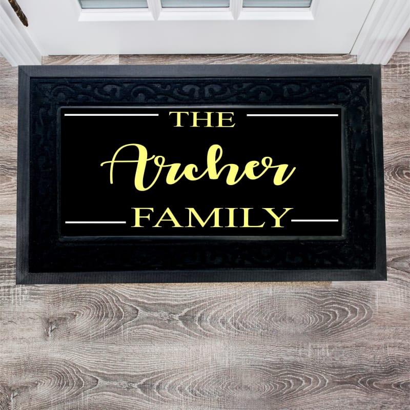 Personalised Luxury Family Doormat