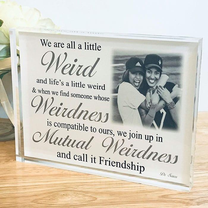 Personalised friendship photo gift
