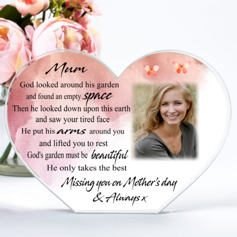 Missing you on Mother's Day - God's Garden Heart Block