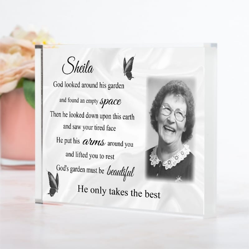 Personalised Remembrance - God's Garden