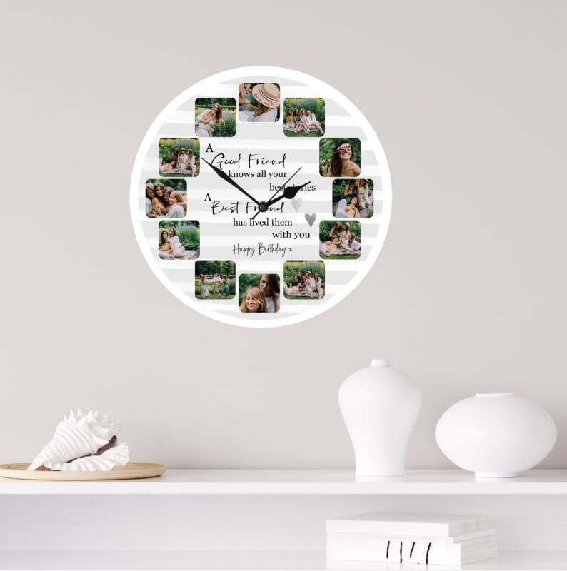 Personalised Birthday Clock - Friend
