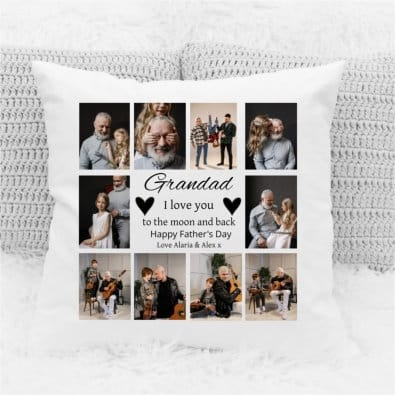 Father's day Cushion - I Love You To The Moon.