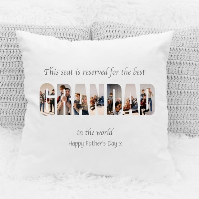 Father's Day Cushion - Grandad photo letters