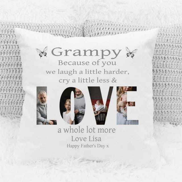 Because of you : Father's Day Cushion