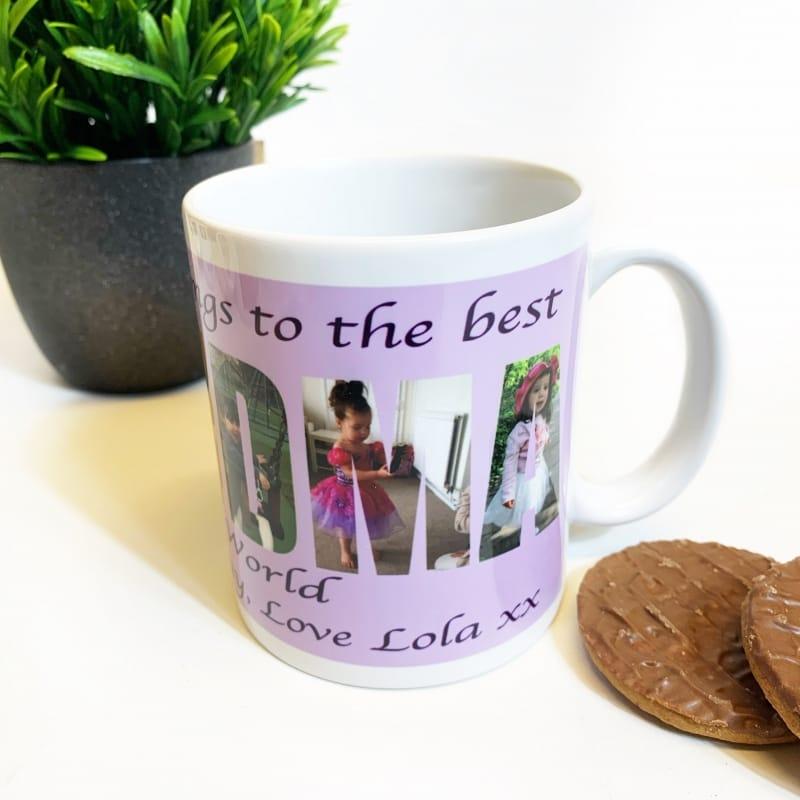 Grandma Photo Letters Mug