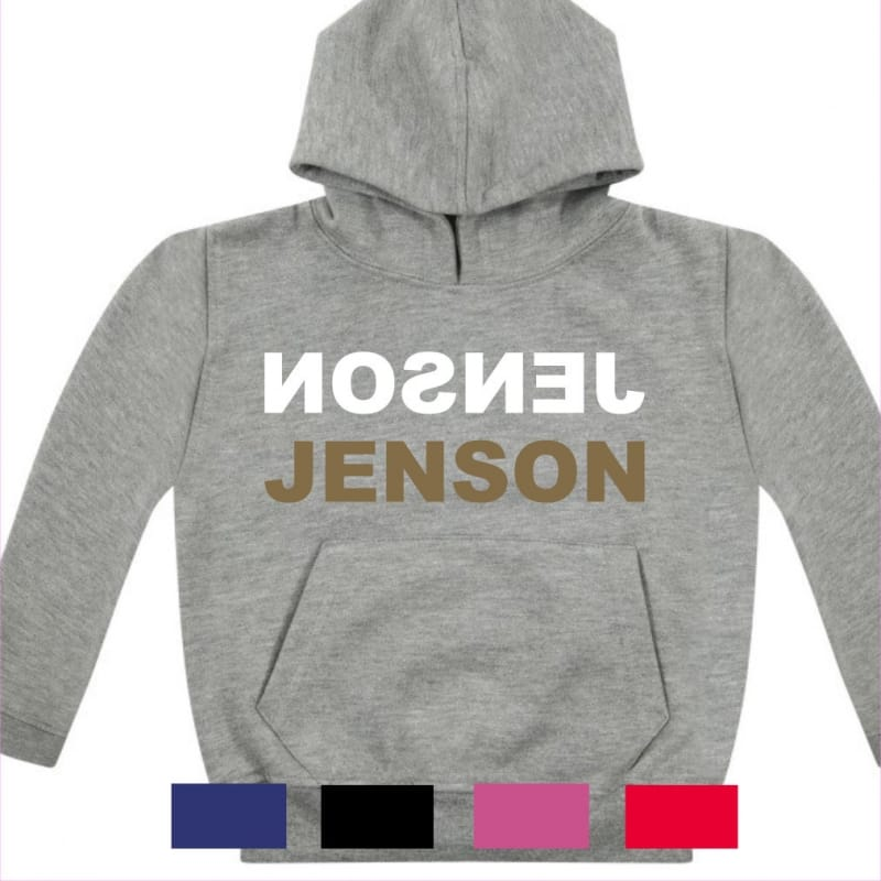 Personalised Gold text name hoodie