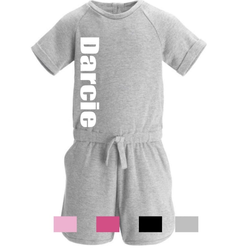 Personalised large name playsuit