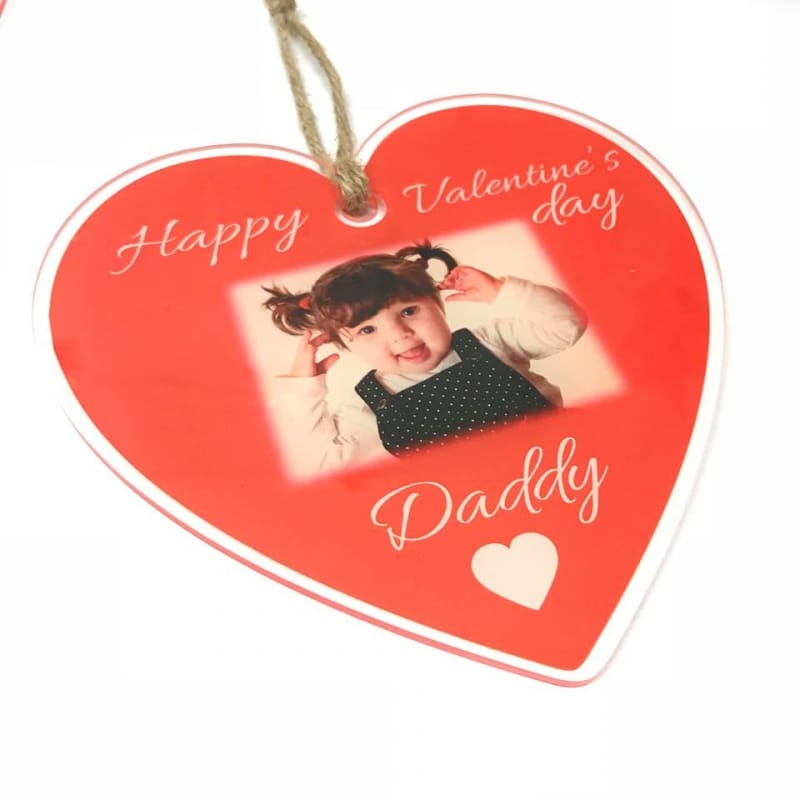 Personalised Valentine's Hanging Heart - Daddy