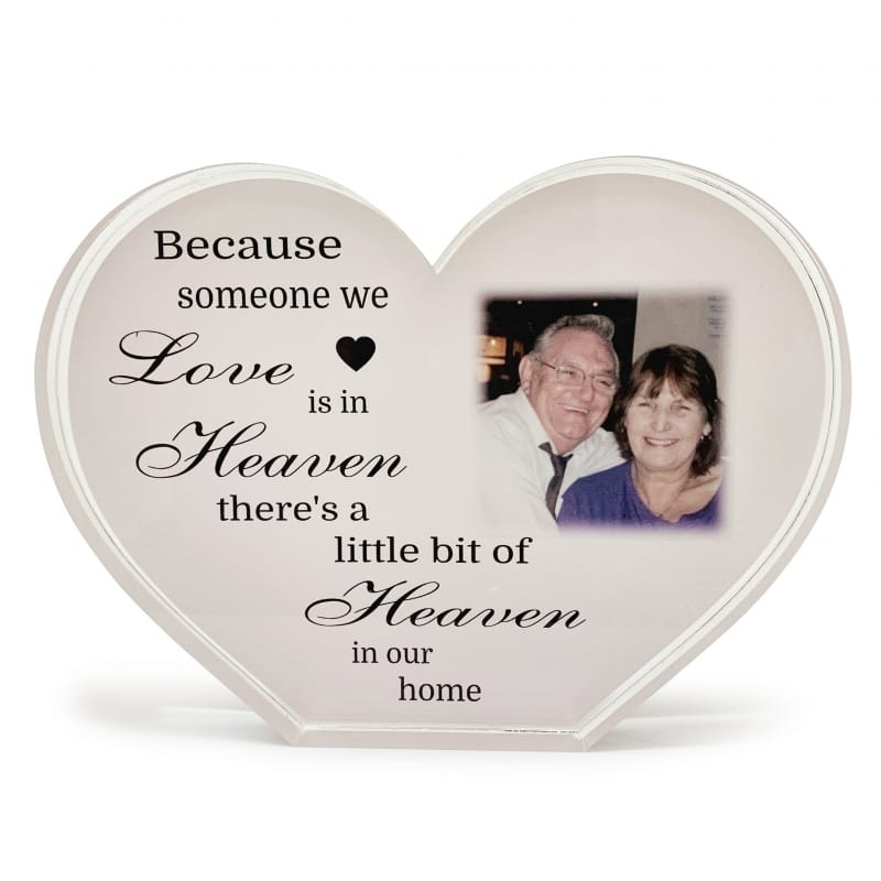 Personalised Acrylic Heart Photo Block - Heaven