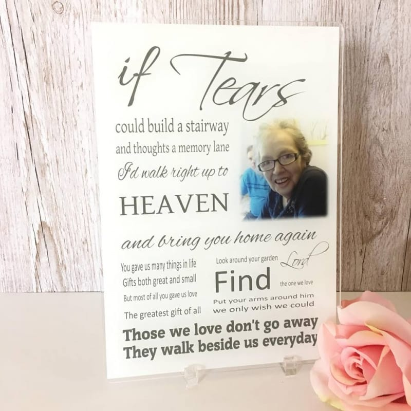 Personalised Remembrance Photo Gift - If tears...