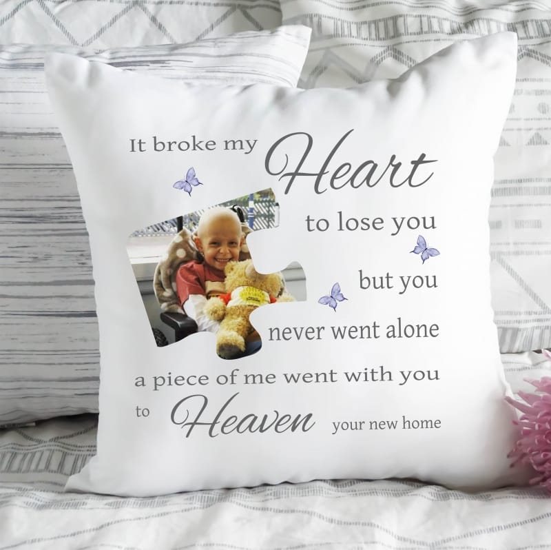 Personalised cushion - Broke my heart