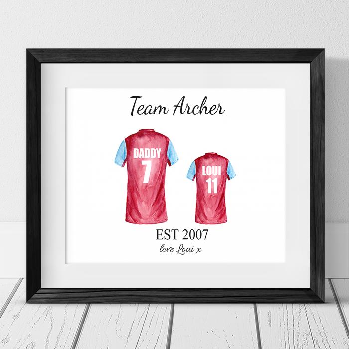 Football Shirt - 2 Team Family Photo Frame