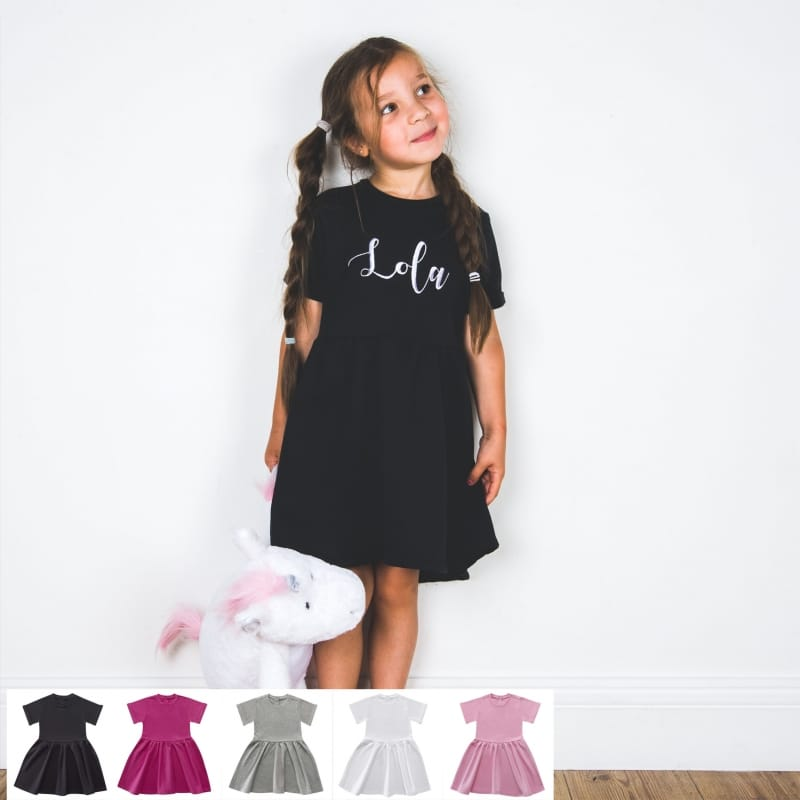 Personalised embroidery name dress
