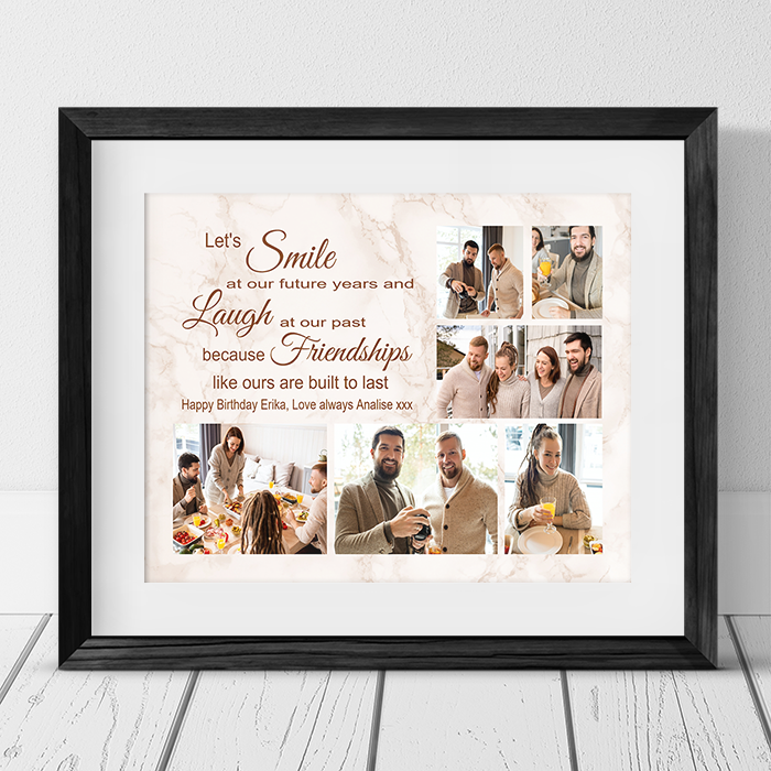 Personalised Friend Collage - Let's Smile