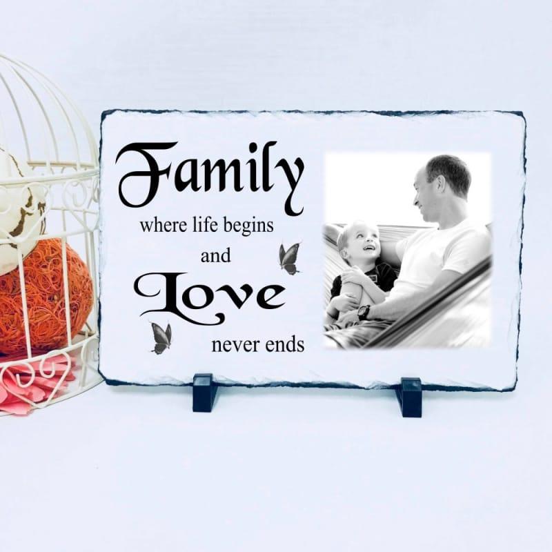 Lg Photo Slate - Family