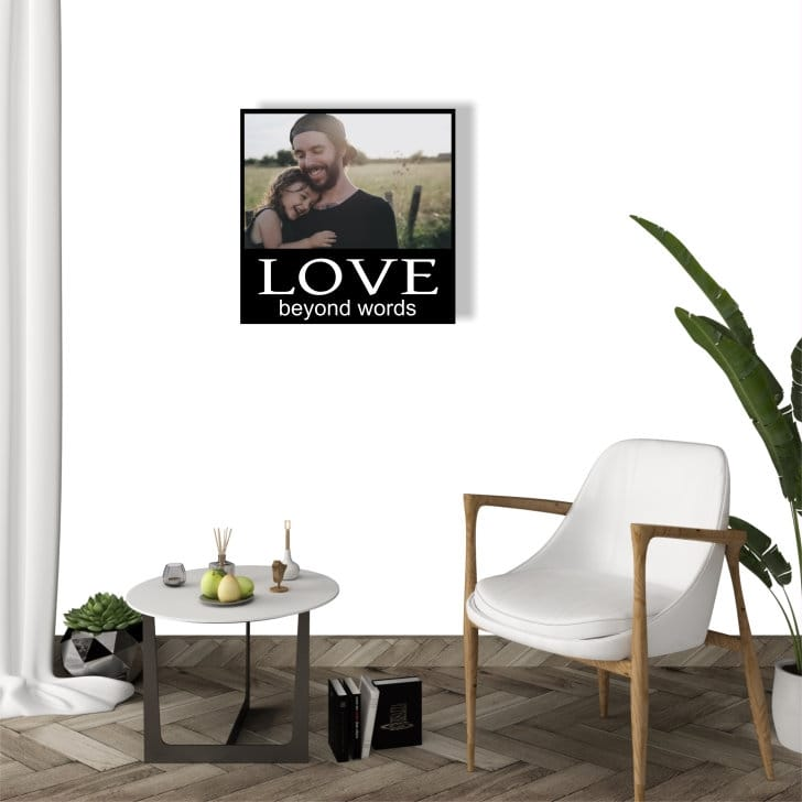 Personalised Photo Panel : Love beyond words