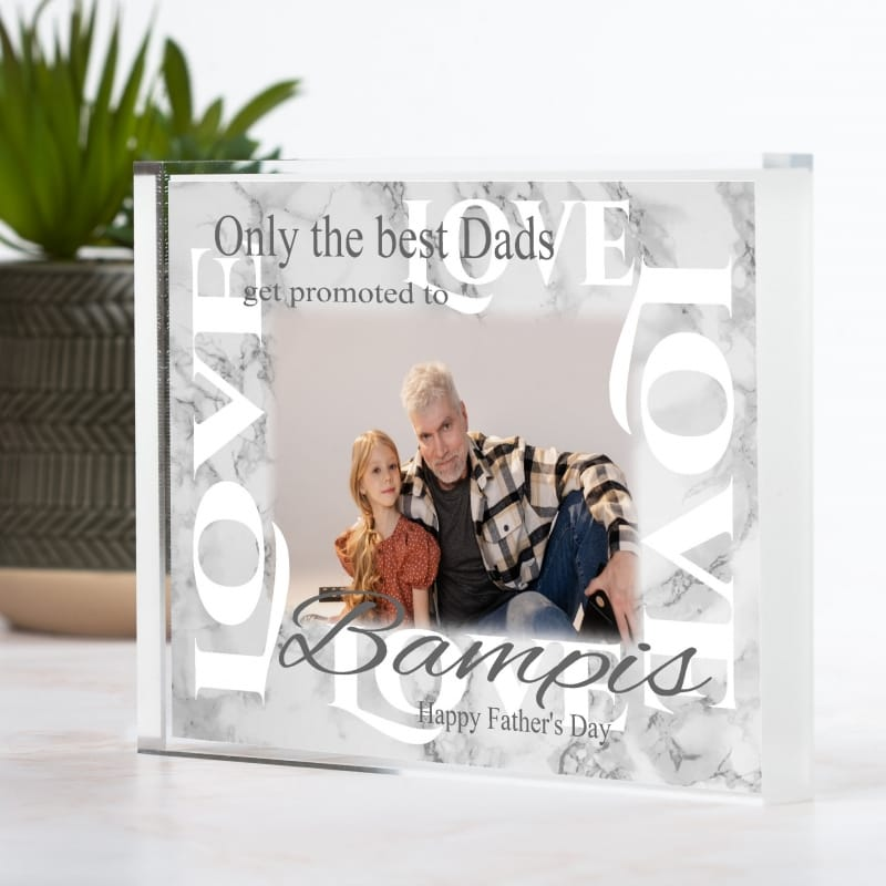 Personalised Father's Day Block - Only the best get promoted