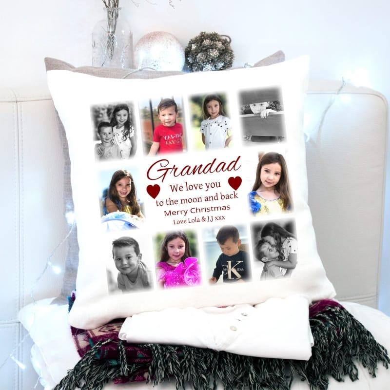 Christmas Cushion Grandad - Love You To The Moon