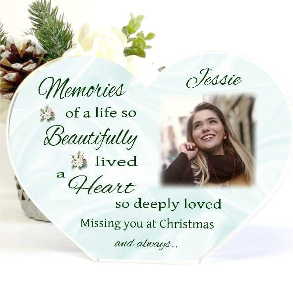 Personalised Christmas Memories Heart Block