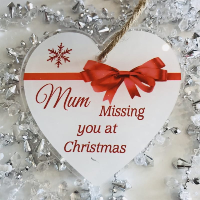 Christmas remembrance heart, Add any name