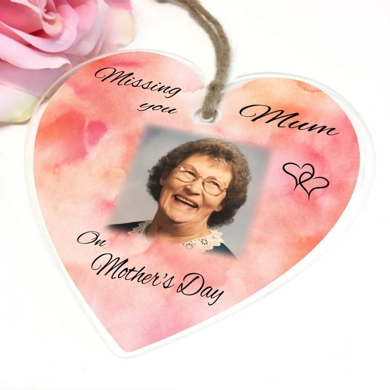 Personalised Acrylic Heart - Missing you Mother's day