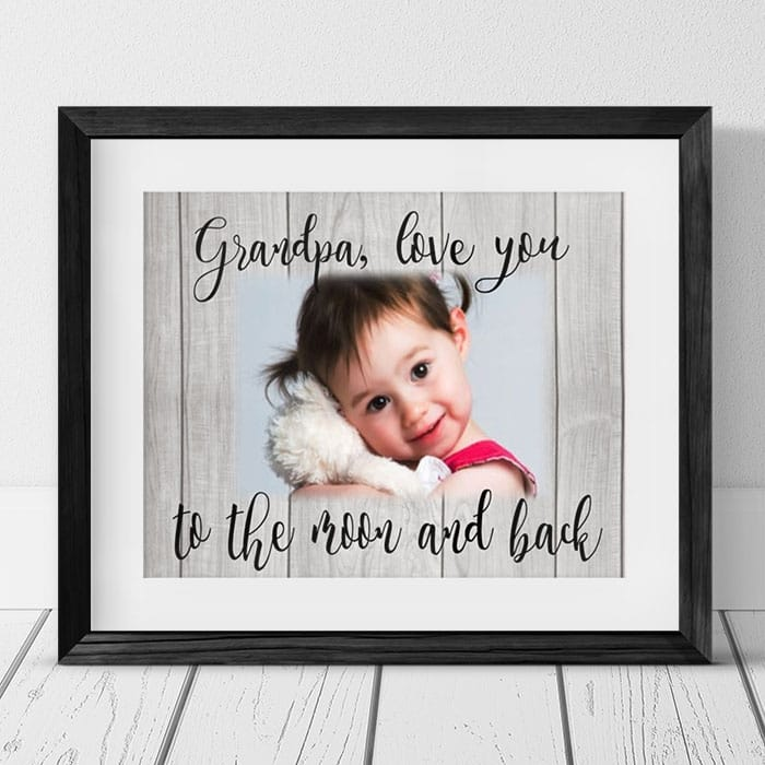 Love you to the moon and back Photo Frame