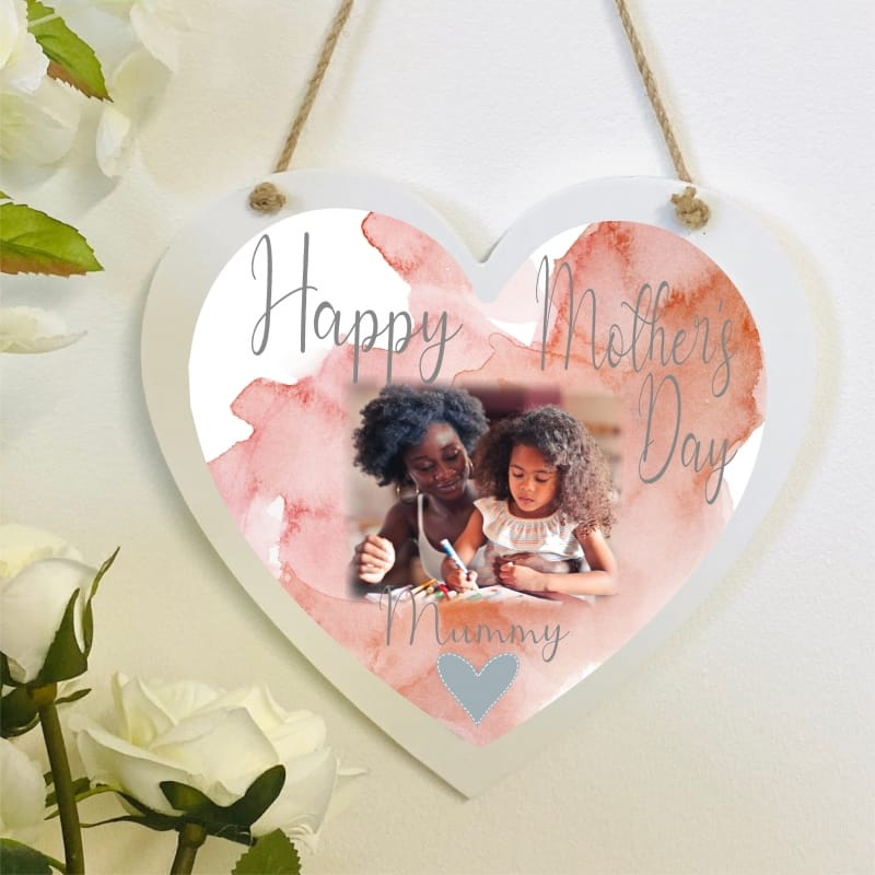 Personalised Deluxe Wooden Heart Mother's Day