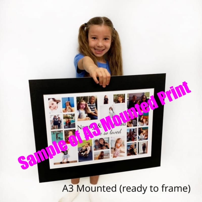 Mum personalised photo collage Birthday