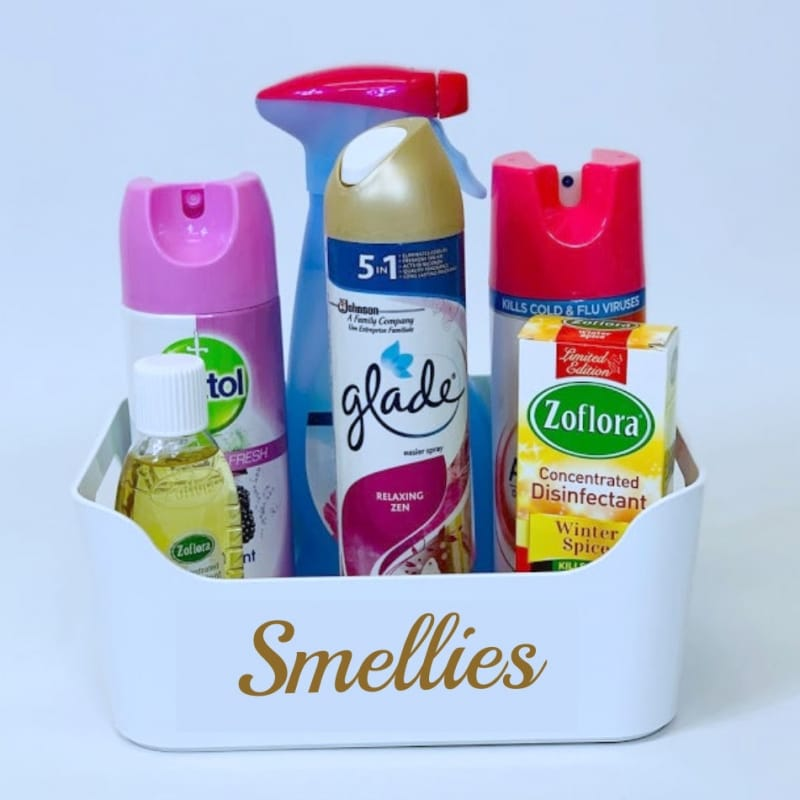 Mrs Hinch inspired smellies basket