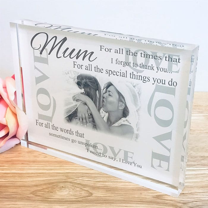 Personalised Thank you gift - For all the times