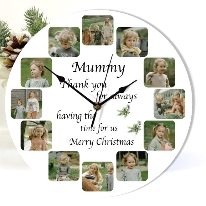 Christmas Mum clock - Having the time for us