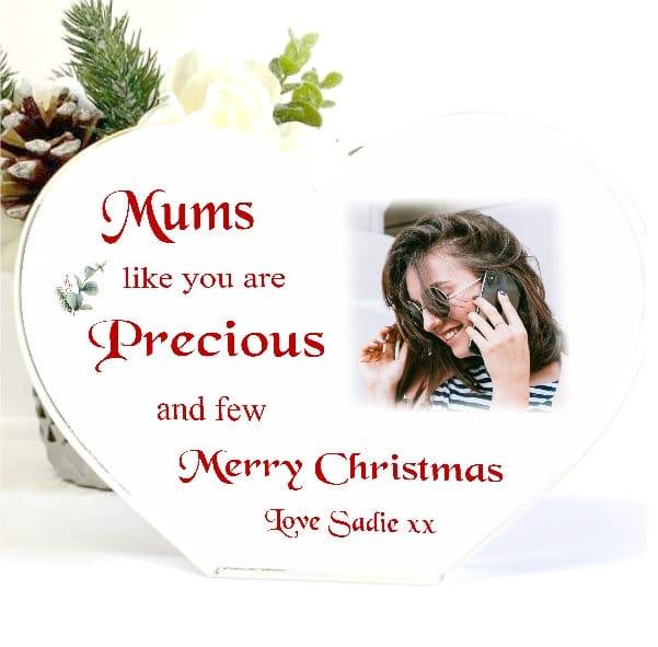 Christmas Heart Block Mum - Precious and few
