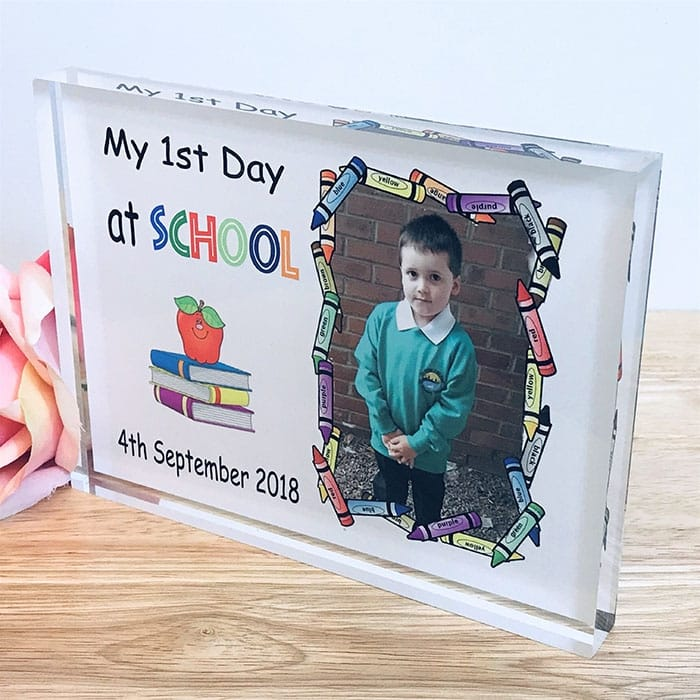 Personalised My First day at School Photo Block