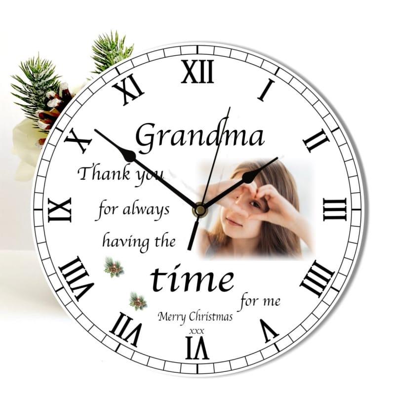 Christmas clock -  Nan Thank you for