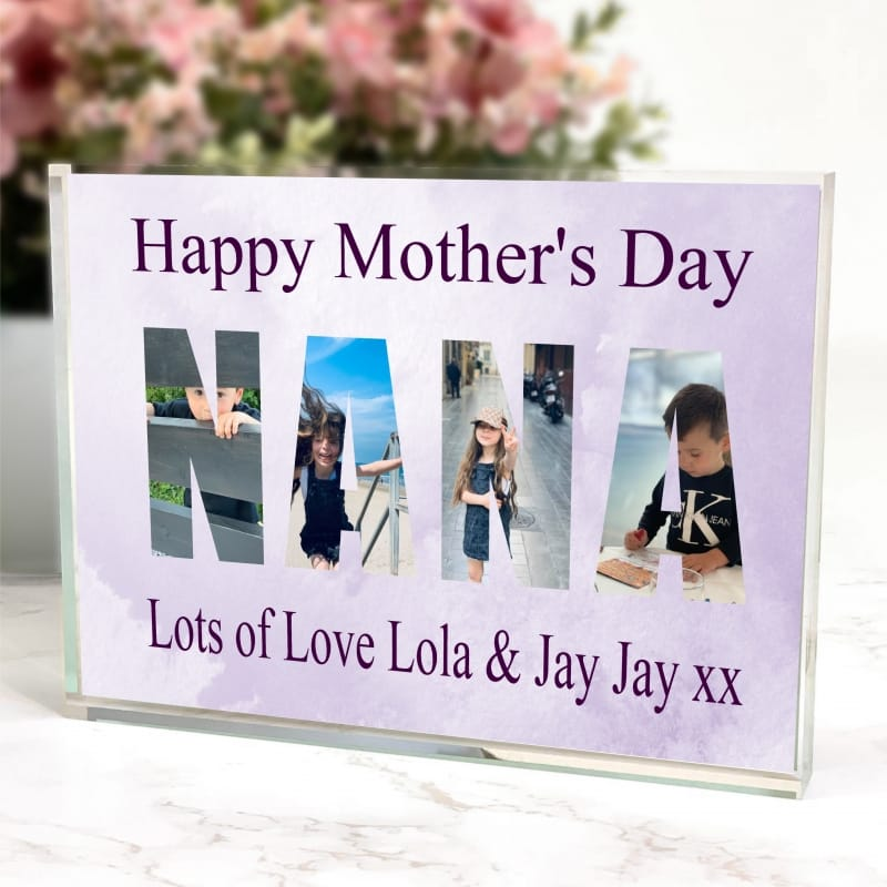 Nana Photo Block letters Mother's day collage
